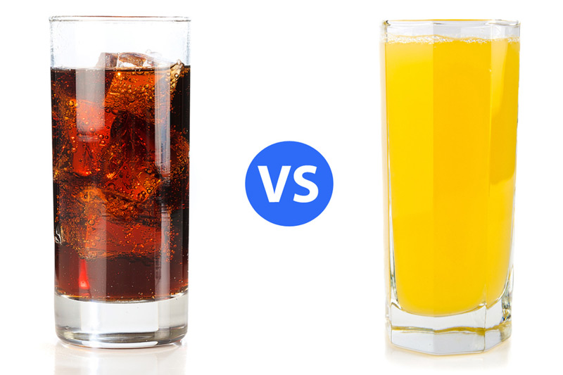 Juices contain more sugar than sodas