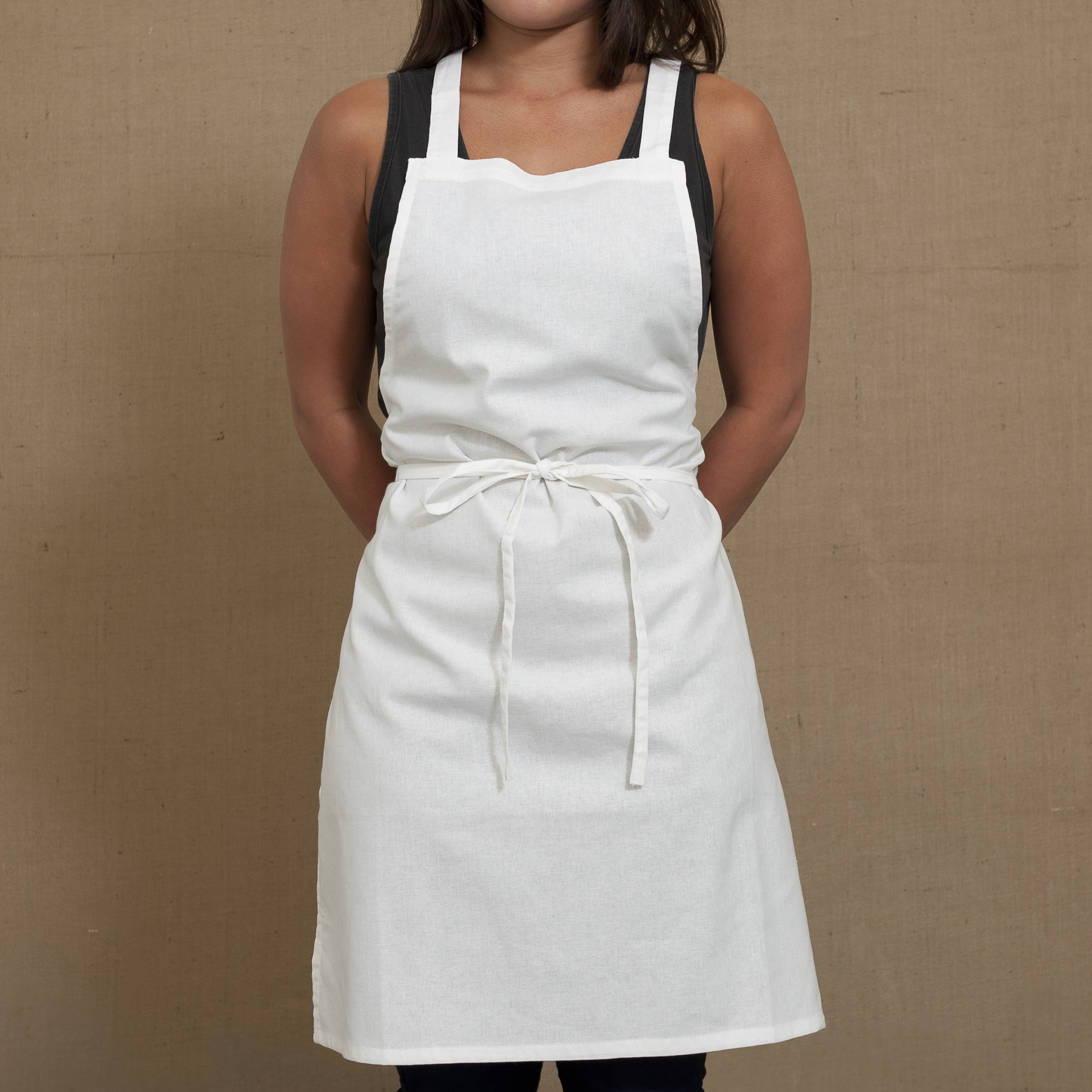 Why should you wear an apron when performing your household chores